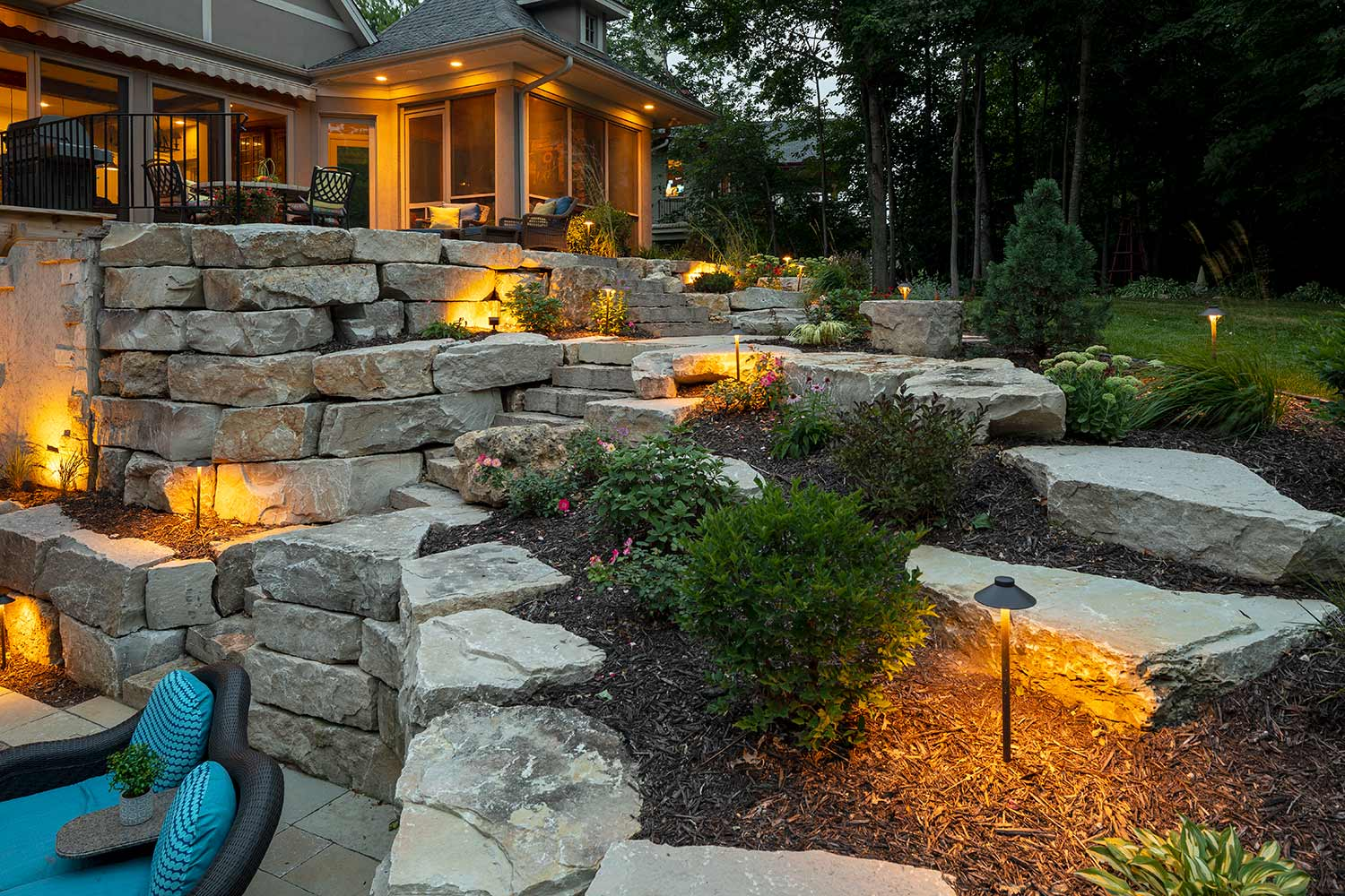 Landscape Lighting-San Marcos TX Professional Landscapers & Outdoor Living Designs-We offer Landscape Design, Outdoor Patios & Pergolas, Outdoor Living Spaces, Stonescapes, Residential & Commercial Landscaping, Irrigation Installation & Repairs, Drainage Systems, Landscape Lighting, Outdoor Living Spaces, Tree Service, Lawn Service, and more.